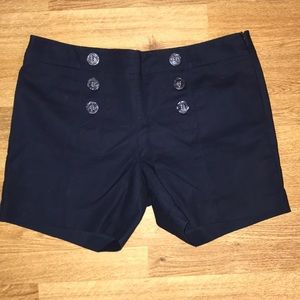 Button front limited brand shorts